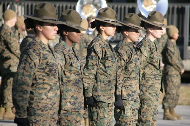 military womens hair hats marines