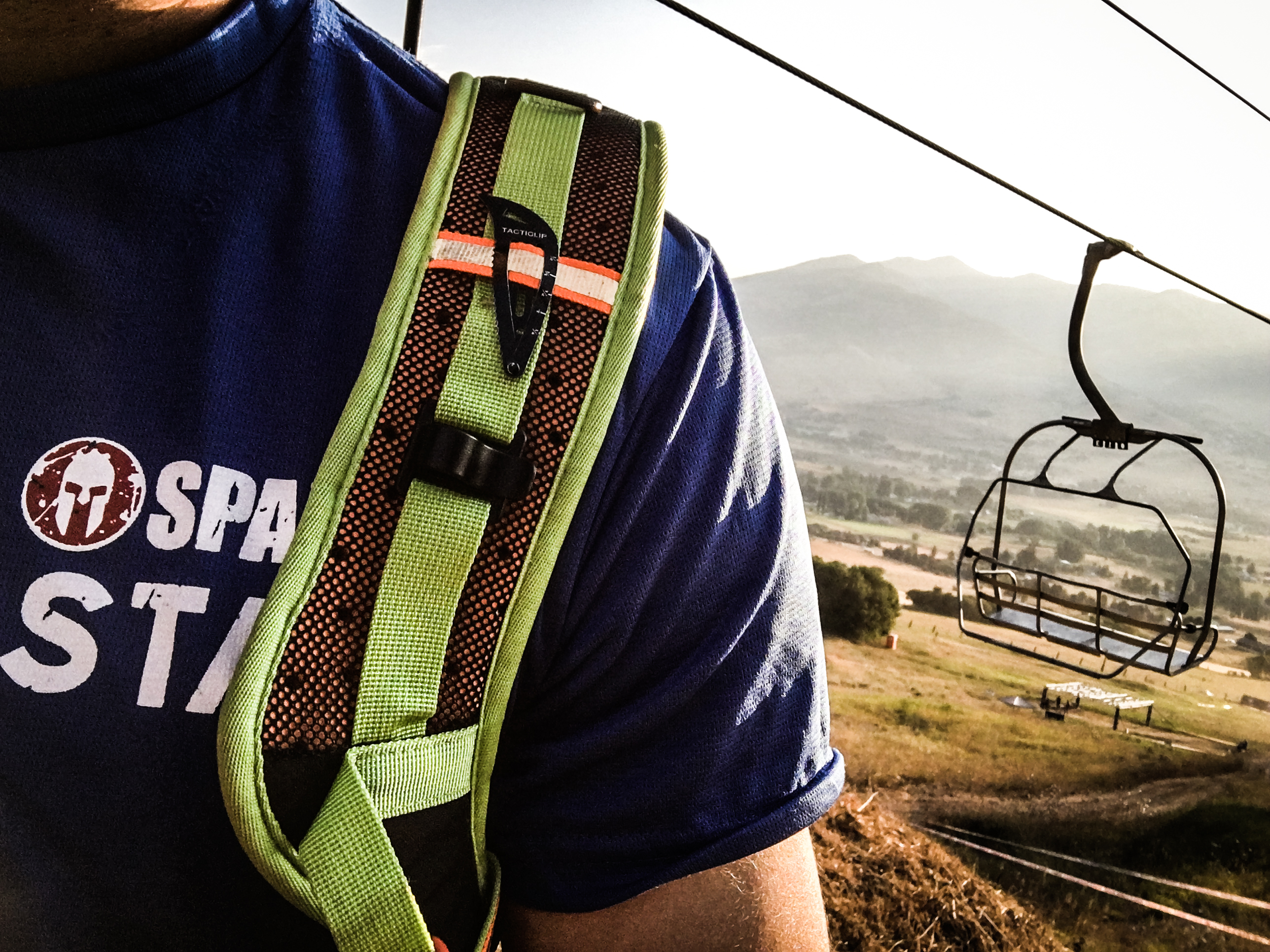 tactical hair clip on backpack during spartan warrior adventure race