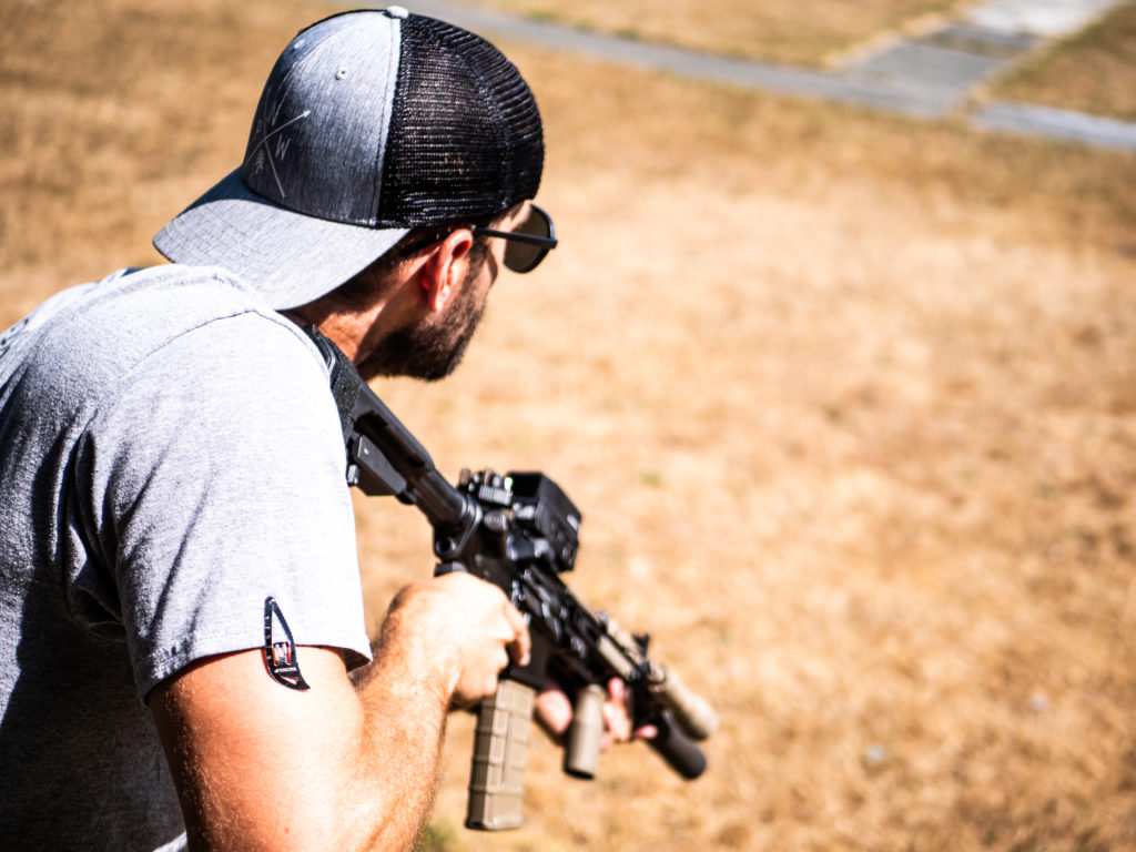 tacticlip at range with suppressed ar15 from rainier arms