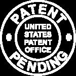 patent-pending logo symbol white transparent png