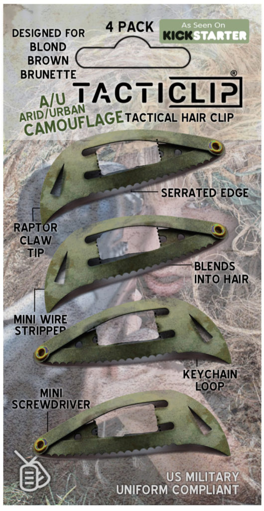 camouflage tactical hair clips tacticlips edc